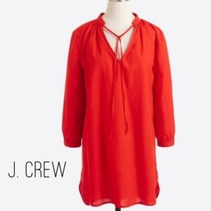 J.Crew Factory Red Tunic Blouse Top Large